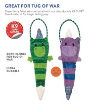 Charming Pets Green Dragon & Purple Unicorn Dog Toy