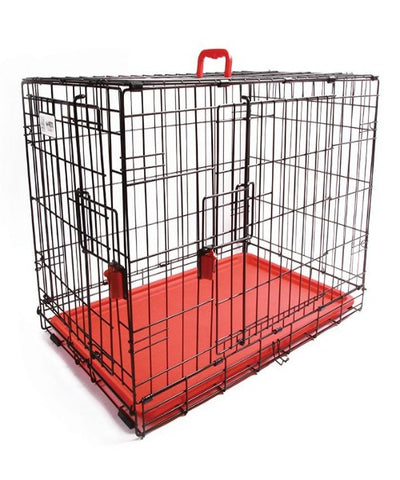 M-PETS Voyager Red Wire Dog Crate - Pet Mall