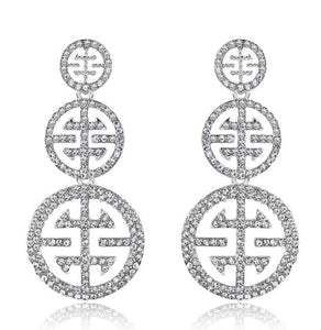 diamante earrings for women
