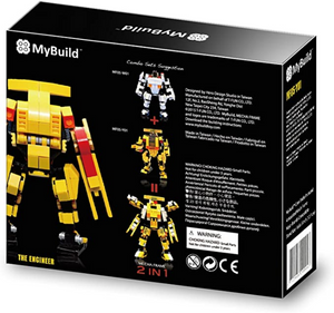 MyBuild Patented Block Building Toy The Engineer Machinery Bricks to Fantastic Robot