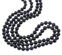 Load image into Gallery viewer, black pearl necklace for women
