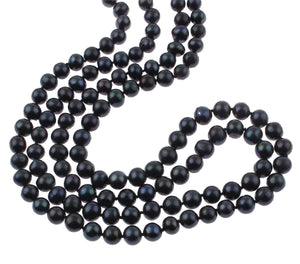 black pearl necklace for women