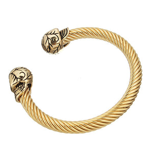 skull bangle for men
