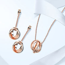 Load image into Gallery viewer, Beautiful Fashion Jewellery Set, Gold Plated Necklace and Earrings Set For Women and Girls