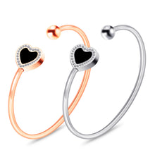 Load image into Gallery viewer, Heart Bangle Bracelet for Women and Girls