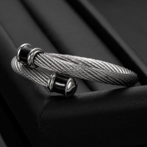 Chunky Fashion Stainless Steel Cuff Bangle For Men