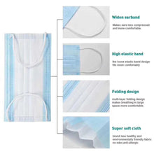 Load image into Gallery viewer, 4-Ply Disposable Surgical Face Masks Box of 50