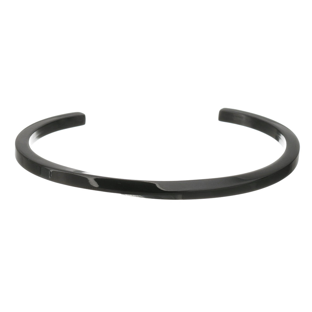 Iconic 5mm Stainless Steel Twisted Bangle Black
