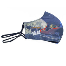 Load image into Gallery viewer, Triple Layer 3 Ply Washable Re-usable Adjustable Christmas Face Masks Pack of 3