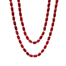 Load image into Gallery viewer, Natural Red Coral Beaded Necklace 120cm