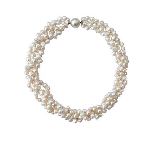 chunky pearl necklace for women