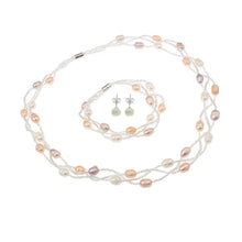 Load image into Gallery viewer, real pearl necklace set