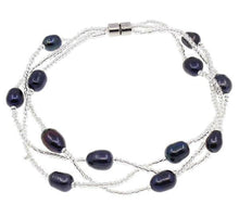 Load image into Gallery viewer, black pearl bracelet