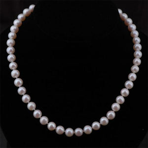Classic 8-9mm White Pearl Necklace