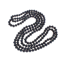 Load image into Gallery viewer, black pearl long necklace