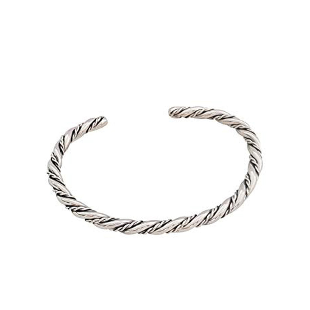 925 Sterling Silve Twisted Torque Bangle