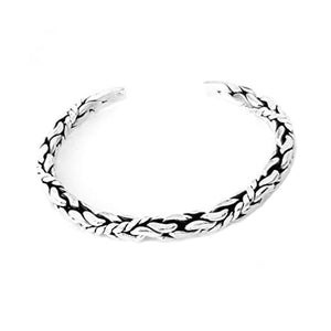 men solid silver bangle