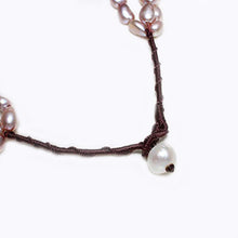 Load image into Gallery viewer, Chunky Modern Twisted Style 7-8mm Purple Baroque Pearl Necklace