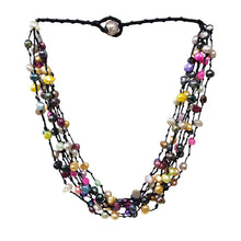 Load image into Gallery viewer, Multi colour pearl necklace