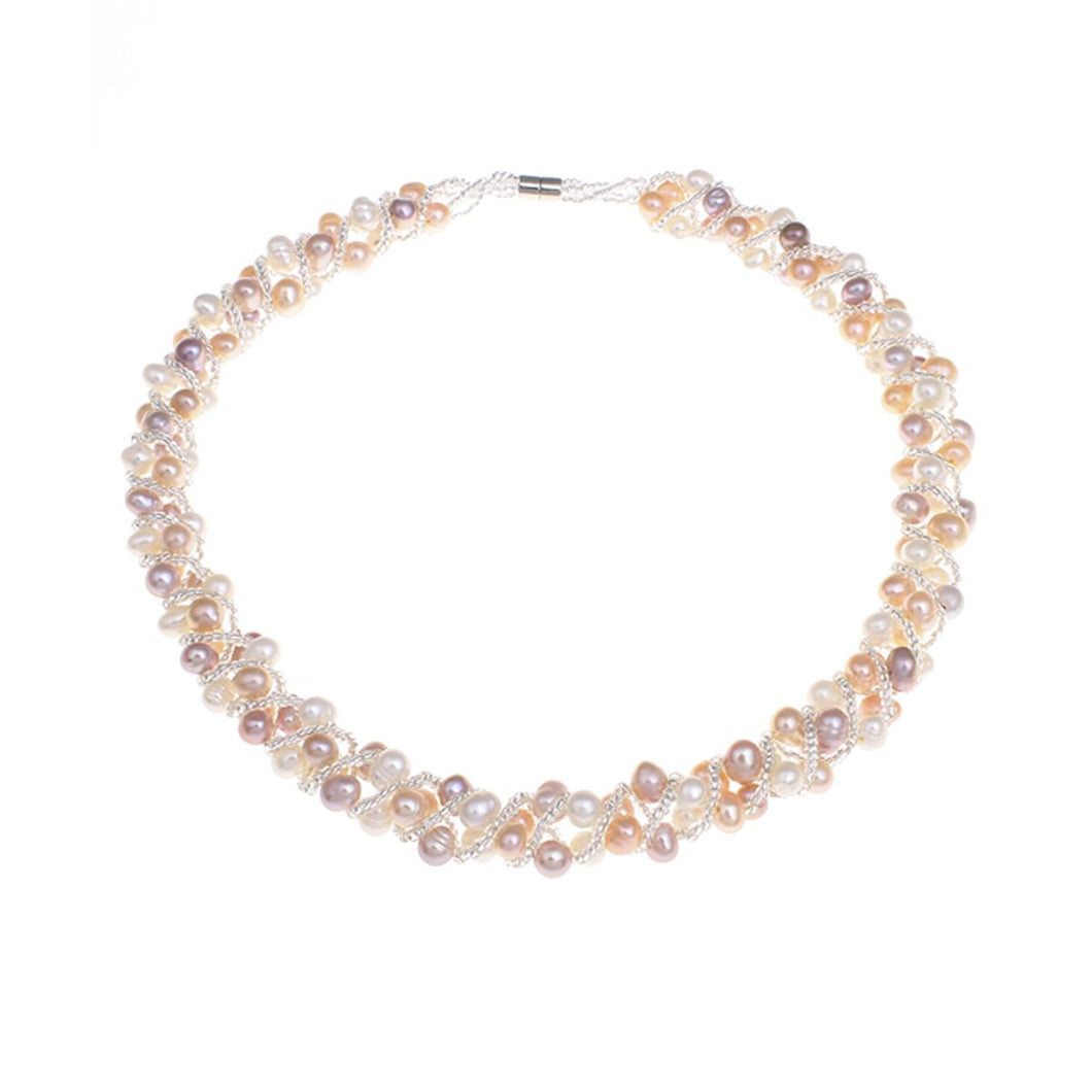 Multi-Colour 5-6mm Freshwater Pearl Necklace 42cm