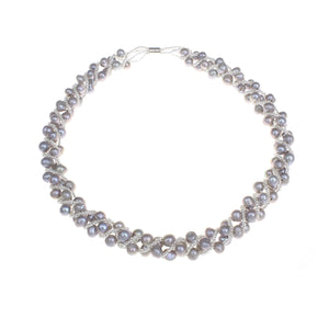 Grey 5-6mm Freshwater Pearl Necklace 42cm