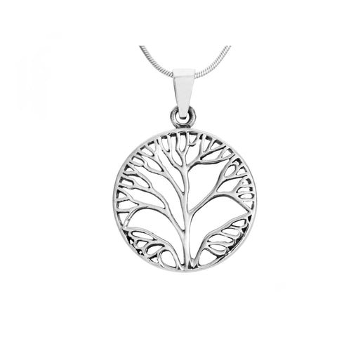 silver tree of life pendant for women