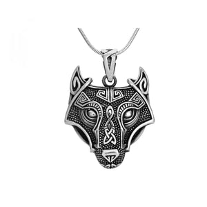 Sterling Silver Wolf Pendant for man