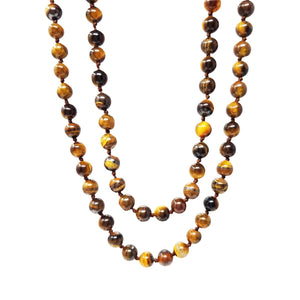 long tiger eye necklace for women