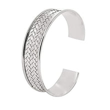 Load image into Gallery viewer, women Silver cuff bangle