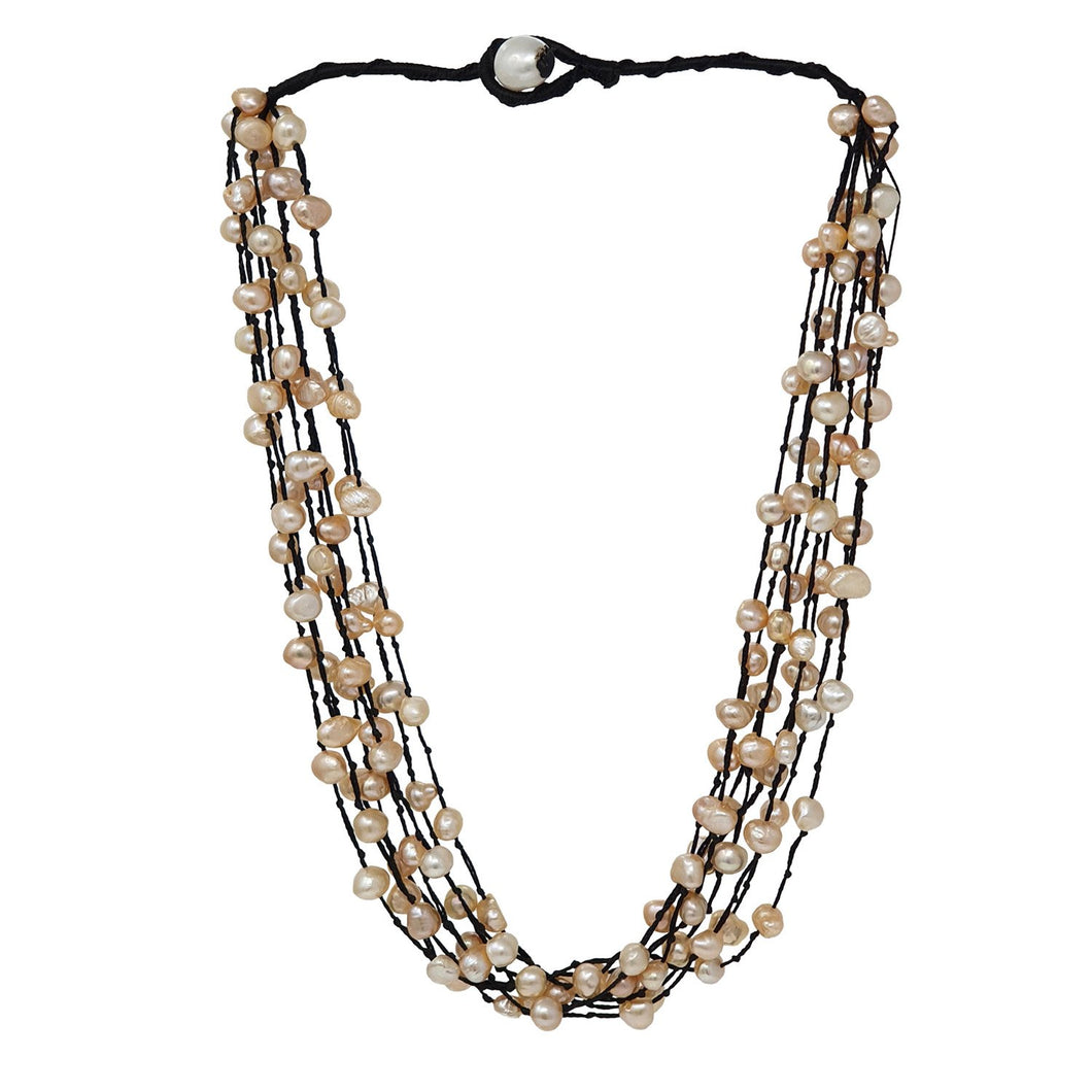 Multistrand pearl necklace