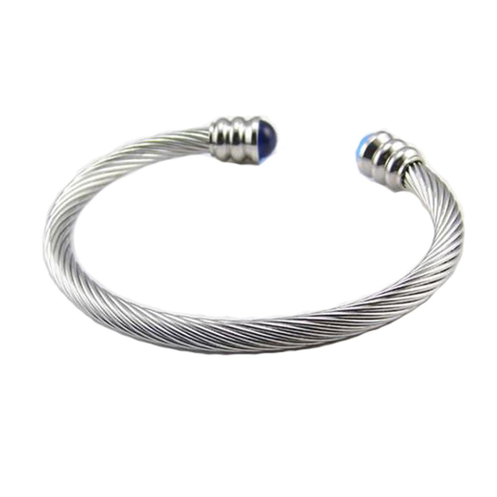 Stainless Steel Cuff Bangle Bracelet, Torque Bangle for Men 6mm