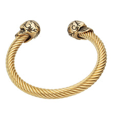 Load image into Gallery viewer, gold torque bangle for men