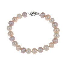 Load image into Gallery viewer, 7-8mm Multi-Colour Peach Pearl Bracelet