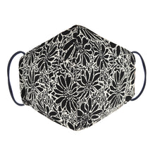Load image into Gallery viewer, Double Layer Washable Re-Usable Cotton Face Mask - Batik White Daisy