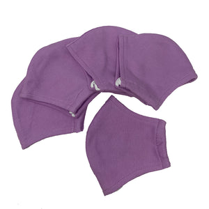 GARCOTEX Childrens 100% Cotton Double Layer Washable Re-usable Face Mask - Pack of 10 - LILAC