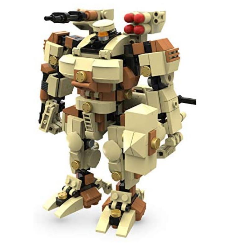 MyBuild Mecha Frame Titan 6012 Sci-Fi 6 Inch Mecha Kit Construction Blocks Building Bricks Set