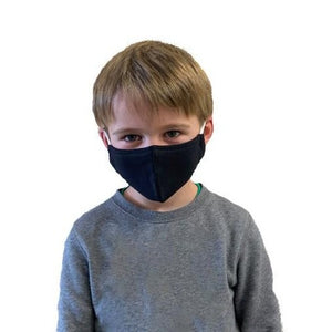 GARCOTEX Childrens 100% Cotton Double Layer Washable Re-usable Face Mask - Pack of 5 - Black