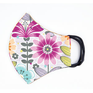 Double Layer Washable Re-Usable Cotton Face Masks Pack of 2 - Retro Floral