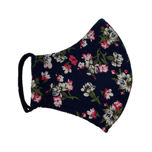Double Layer Washable Re-Usable Cotton Face - Sweet William Floral