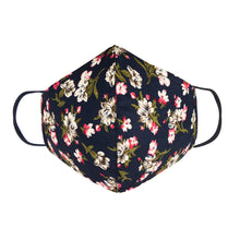 Load image into Gallery viewer, Double Layer Washable Re-Usable Cotton Face - Sweet William Floral