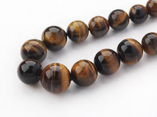 Load image into Gallery viewer, 8-16mm Natural Tiger Eye Gemstone Necklace
