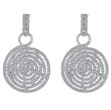 Load image into Gallery viewer, Diamante Crystal Circle Dangle Drop Earrings