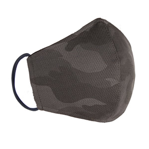 Double Layer Washable Re-Usable Cotton Face Mask - Grey Camouflage