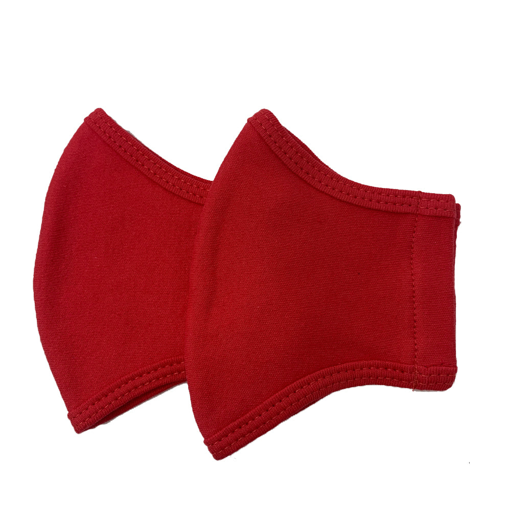 GARCOTEX Children's 100% Cotton Double Layer Washable Re-usable Face Mask - Pack of 5 - Red