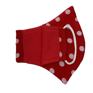 fashion polka dots face mask for women and girls