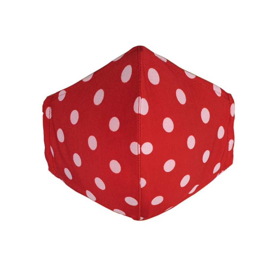 red polka dot face mask for women