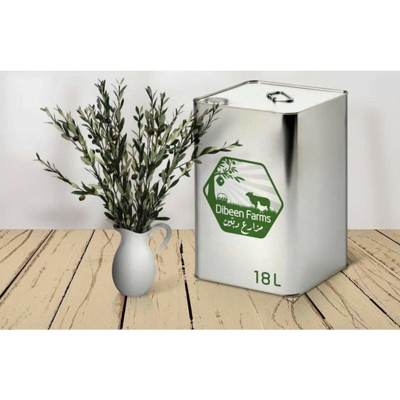Dibeen 18 Liter Tin - Extra Virgin Olive Oil  - Cold Pressed