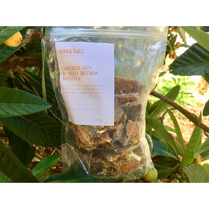 Chocolate Covered Nut & Seed Quinoa Brittle 700g