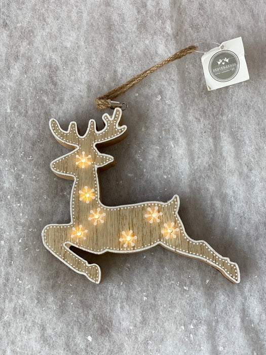 Reindeer Light Up Hanging Decoration
