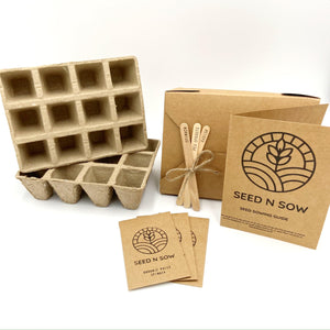All In One Seed Kit - Organic Herbs, Fruit and Vegetables-Master-Seed n Sow